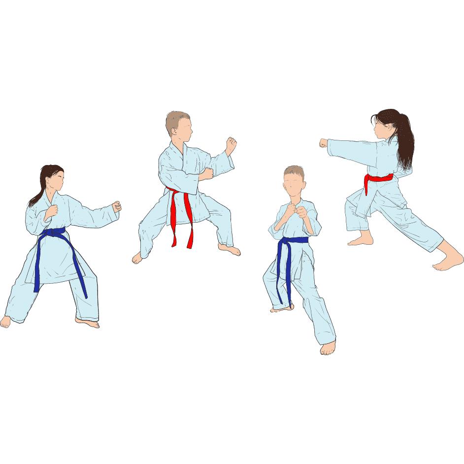 karate razmi figor form kamarband kodakan vector file 1
