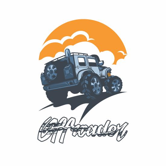 off road driving car logo manzare ghorob vector file 1