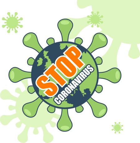 stop corona virus sistem kore zamin dargir vector file 1