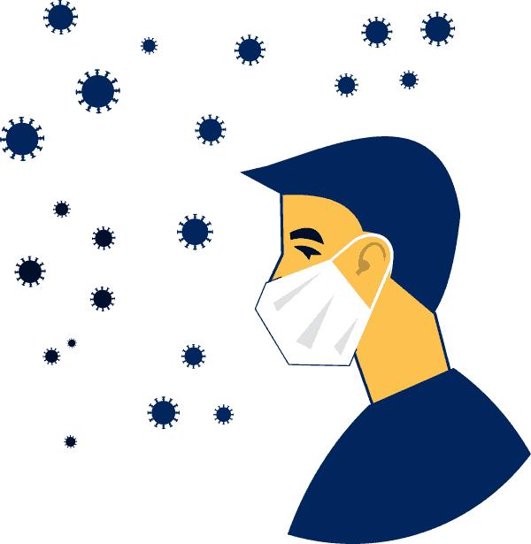 virus shenavar dar hava mask corona vector file 1