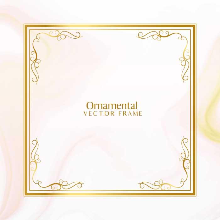 awesome golden ornamental frame design 1