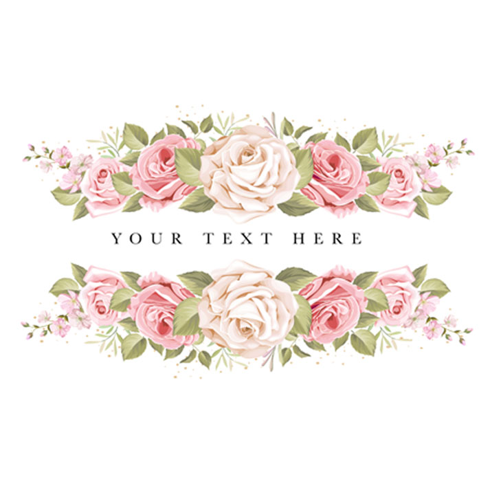 beautiful banner floral and leaves template 1