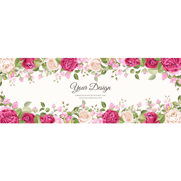 beautiful banner floral leaves template 1