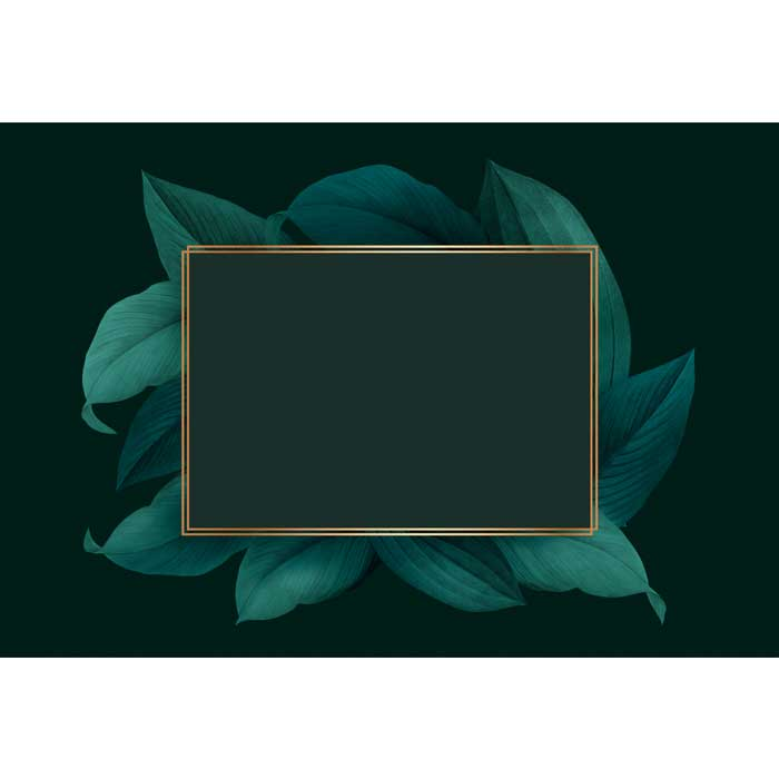 foliage decorated frame 1