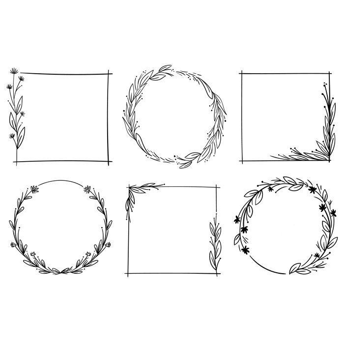 frames isolated white background 1