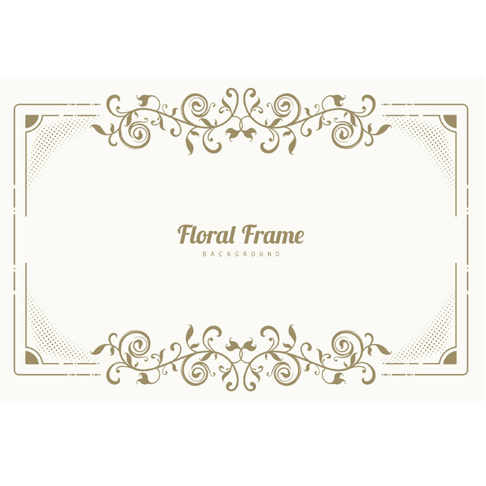 ornament floral frame background 1