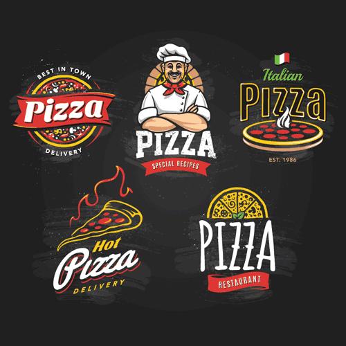دانلود لوگو فست فود - وکتور سرآشپز - پیتزا - دلیوری - ارسال پیتزا داغ بصورت لایه باز و برداری مناسب استفاده در برنامه های کورل ایلاستریتور برای ساخت لوگو ، منو فست فود و رستوران ، تابلو تبلیغاتی ، تراکت