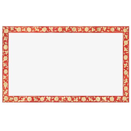 vintage gold red rectangle frame 1