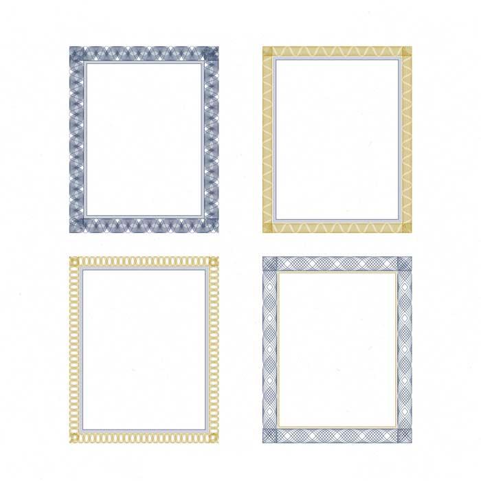 vintage pack certificate frames 1