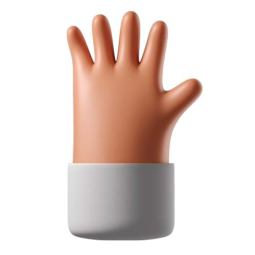 Hand with fingers splayed 1