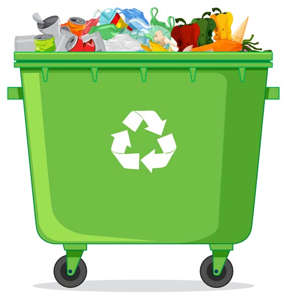 a recycle grabage bin 1