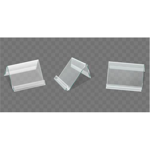 acrylic table tent displays plastic card holders 1