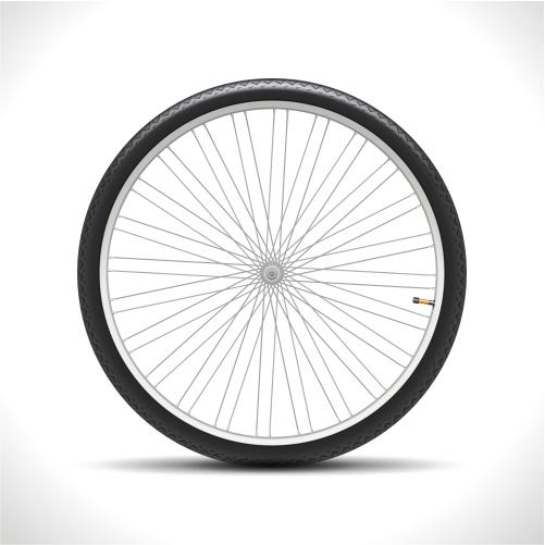 bicycle wheel isolated 1