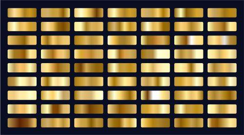 big set of metallic gold gradients 1