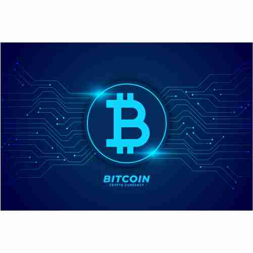 bitcoin technology background with circuit lines 1