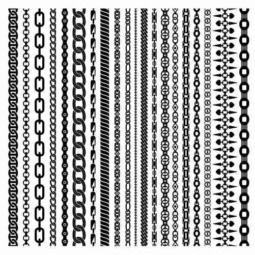 black vertical chains set 1