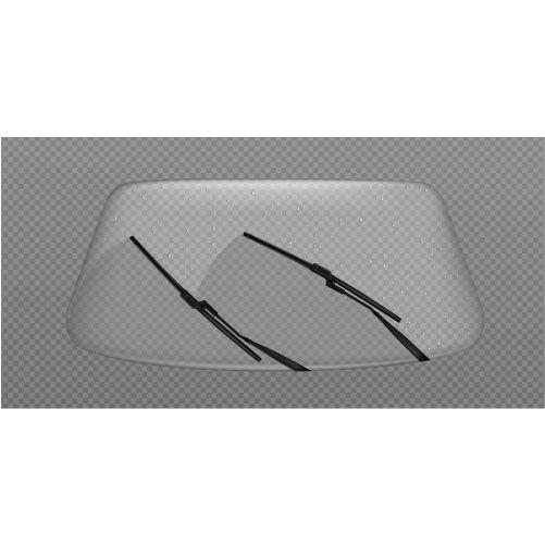 car wiper clean windscreen glass windshield with rain drops 1