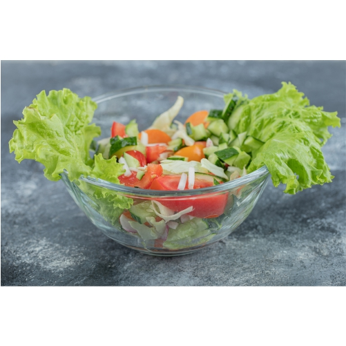 close up photo green vegan salad from green leaves mix vegetables high quality photo 1