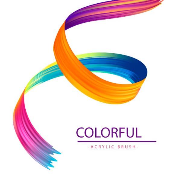 colorful wavy acrylic background 1