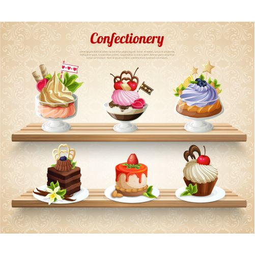 confectionery colorful illustration 1