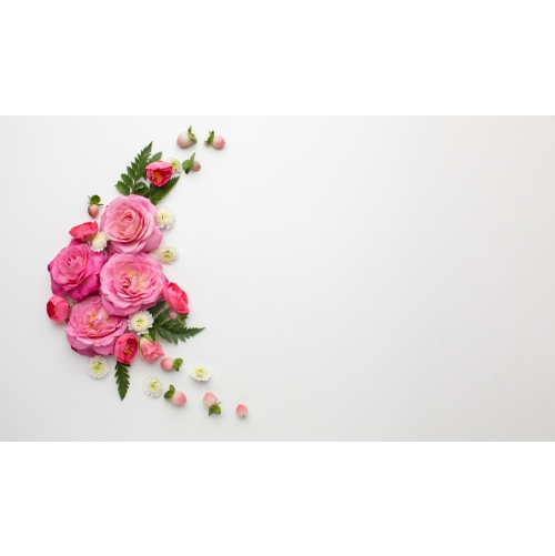 copy space roses flowers 1