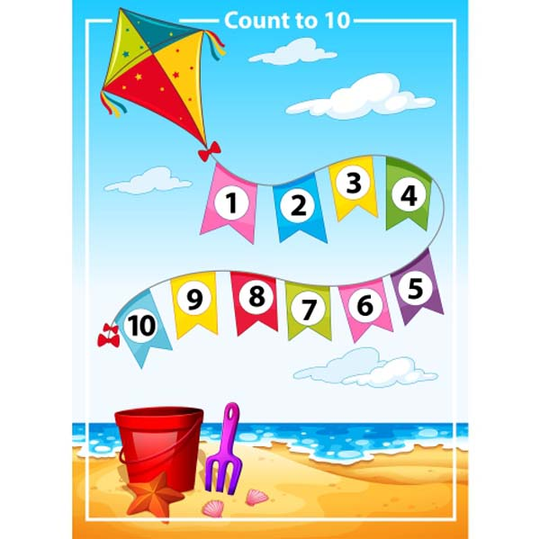 count number summer beach template 1