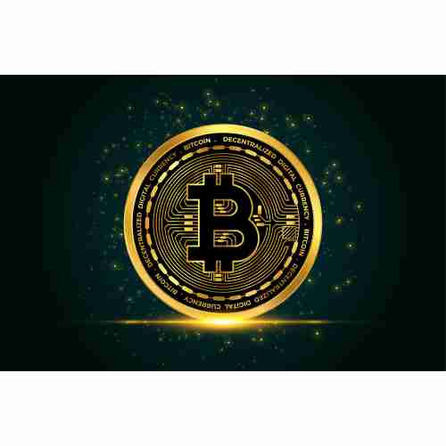 cryptocurrency bitcoin golden coin background 1