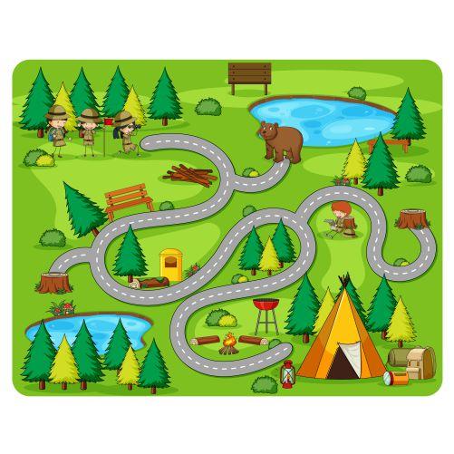 cute cartoon maze game template 1