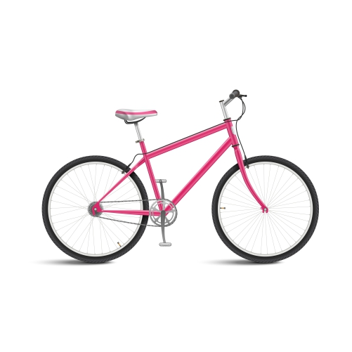 cute pink bicycle isolated 1