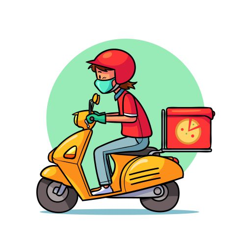 delivery service illustrated 1