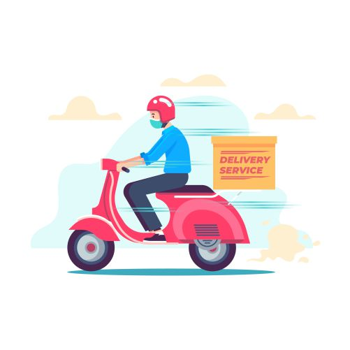 delivery service with masks concept 2 1