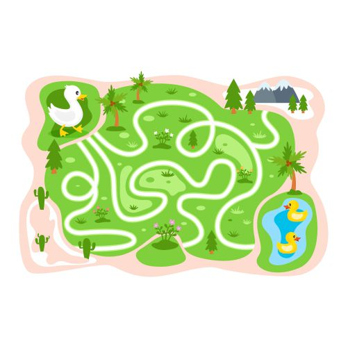 educational maze children with ducks 1