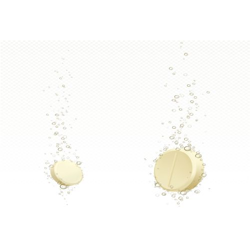 effervescent soluble tablet with bubbles water 1