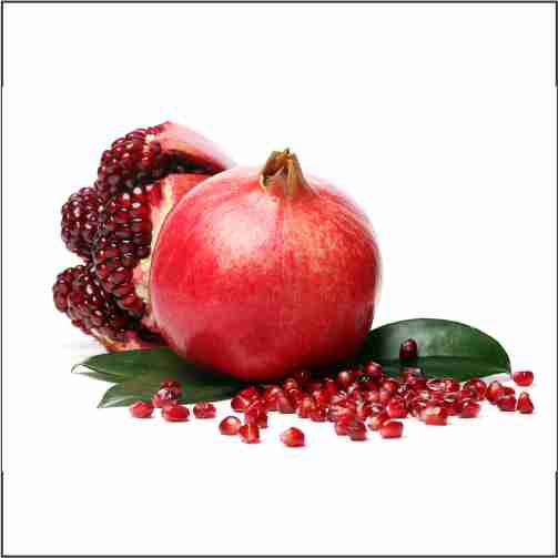 exotic delicious pomegranate white background202