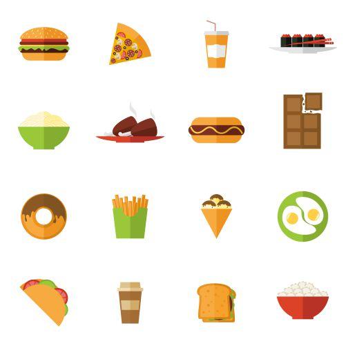 fast food icons set 1
