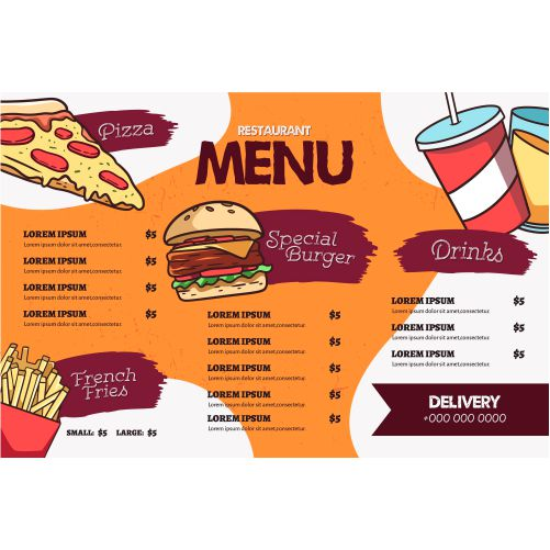 fast food menu template 1