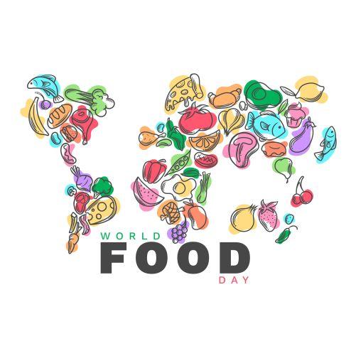 flat design world food day concept 1