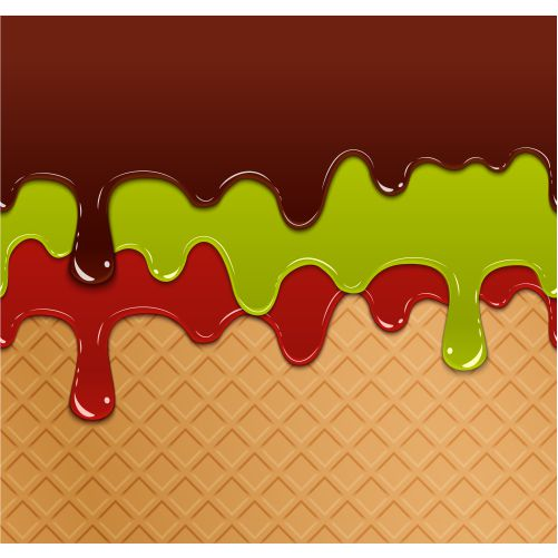 flowing berry jam green jelly chocolate waffle ice cream texture 1