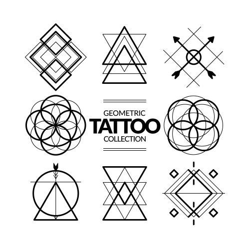 geometric symbols tattoo collection 1