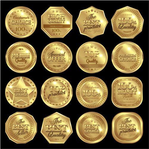 golden awards badge set 1