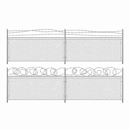 grid fence with barbed wire 1