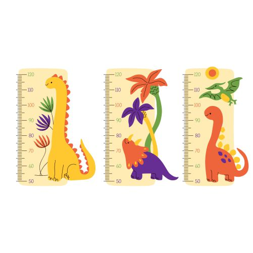 hand drawn height meter collection 1