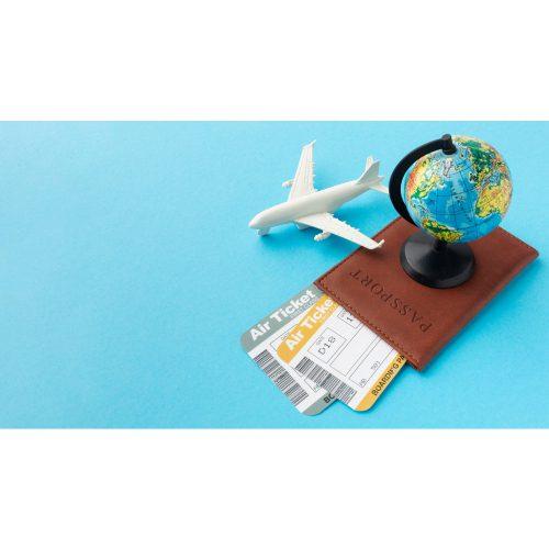 high angle passport tickets arrangement 1