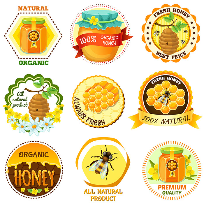 honey emblem set with descriptions natural organic fresh honey best price all nat 1
