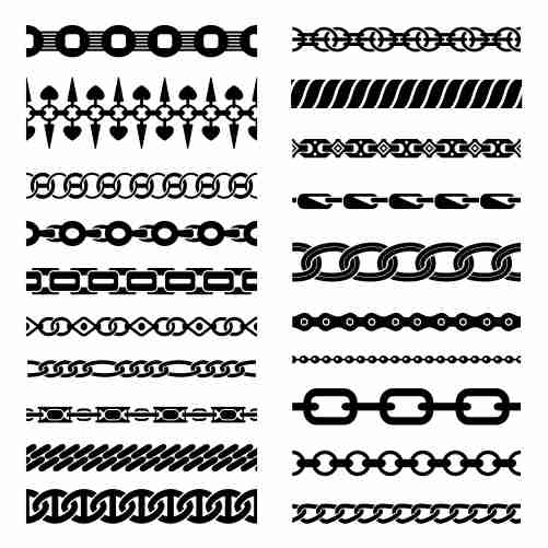 horizontal chains collection 1