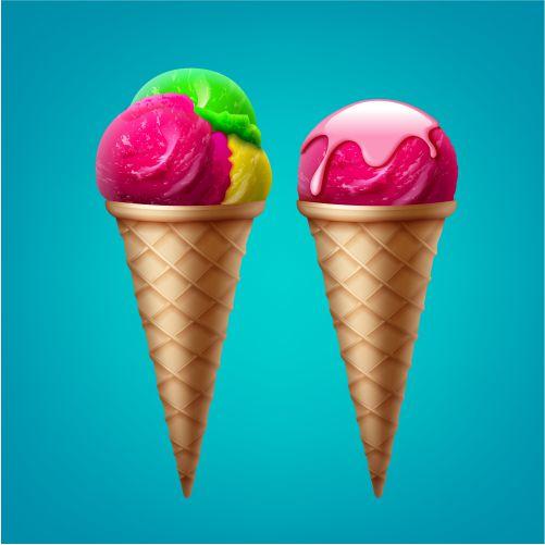 ice cream cone with one scoop glaze ice cream cone 1