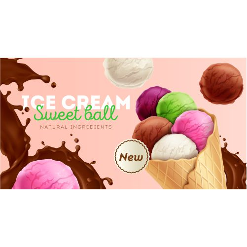 ice cream sweet colorful balls with natural ingredients ad 1