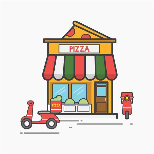 illustration pizza vector set 2 1