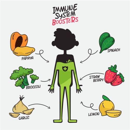 immune system boosters with fruits vegetables 1