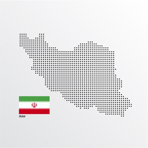 iran map design with flag light background vector 1